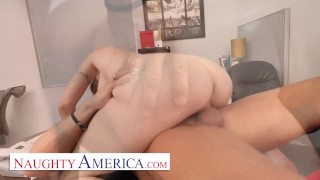 Naughty America - Big tits boss Natasha Starr fucks her new employee