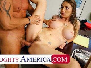 Naughty America – Big tits boss Natasha Starr fucks her new employee