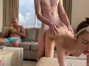 Couple fucking while their cuckold friend watches - SolaZola doctor sex videos