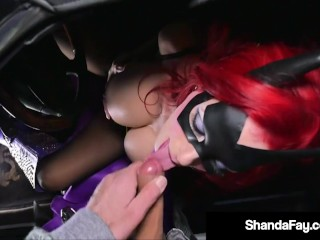 Cosplay Cougar Shanda Fay Sucks Dick Roadside To Save Lives!