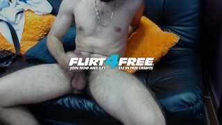Dane Tatum on Flirt4Free - Young Athletic Latino Stud with a Big Cock Jerks Off and Tastes His Load