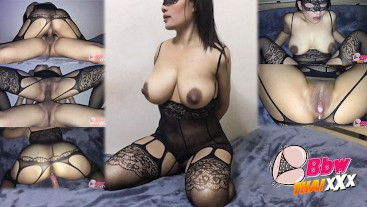 Asian girl big boobs begs for cum in her pussy. (new cam angle)