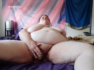 BBW Elf fucked by Bad Dragon Dildo with multiple orgasms
