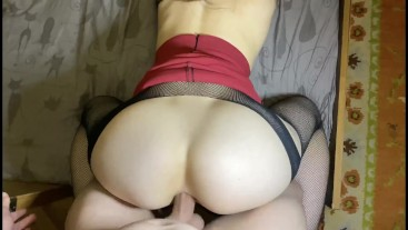 Fucked a beautiful secretary in stockings in the ass
