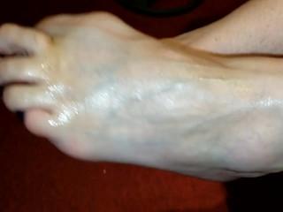 TabbyKat Purple Toe Foot Fuck