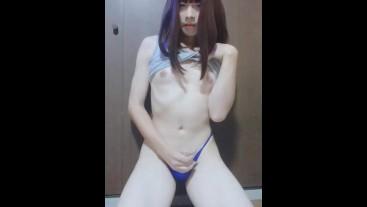 Japanese MTF Rubbing penis / オトコの娘シコシコ