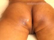 HOT MILF got sensual pussy & ass massage with loud moaning:හස්බන්ඩ් ගේ සැප