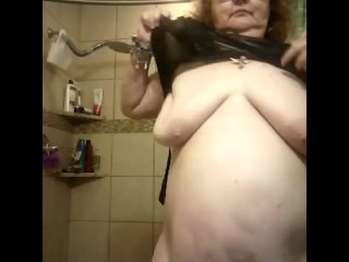 BBW shows off her body after a visit with her dom! She was she a naughty girl she is cute