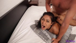 Submissive slut tied up, fucked hard and made to swallow cum | My Nina