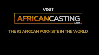 African Amateur Covered In Cum on Casting