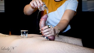 Lady N – Teasing game: DO NOT MOVE! | Ruined cumshot & post orgasm torture