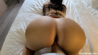 Naughy IG model invites Papi over to her hotel room to cum all over her BIG Latin booty