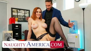 Naughty America – Lilian Stone drains her boss' balls to help relieve his stress