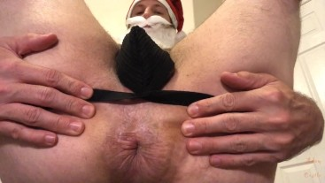 Santa Makes Naughty Homo Worship His Ass POV