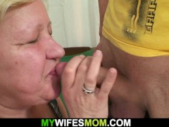 Wife Caught Him Fuckin' Her Big Old Mother