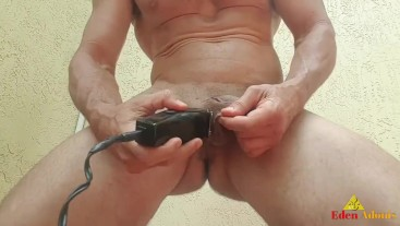 Trimming and Shaving Eden Adonis Delicious Soft Cock & Big Balls