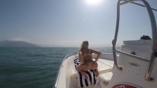 Boat summer sex in the middle of the sea with big ass blonde and beautiful tits- PerfectBlonde69