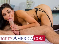 Naughty America - Audrey Bitoni lets her husband's employee test drive her pussy!!