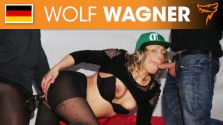 Cockcraving Eva enjoys a filthy threesome with two studs! WOLF WAGNER