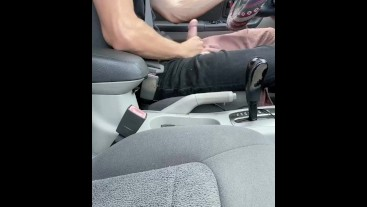 Teenager Jerks Off in his Car, Couldn't Wait to Cum