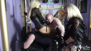 Dirty Fucking Sluts – Rough Pegging by Mistress Athena and Lady Dark Angel
