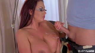 Busty sex goddess Emma Butt gives sex therapy with her 36F huge hooters