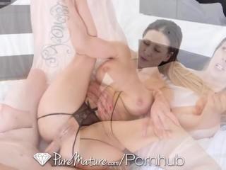 PUREMATURE Juicy Cherie Deville Grinds Her Plump Pussy On Big Dick