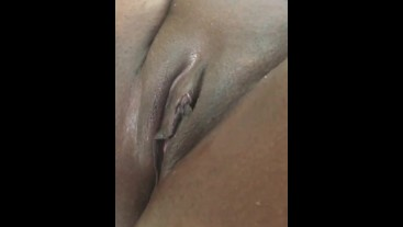 Phyzikal Mei up close playing with wet pussy