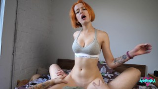 The bitch wanted to fuck so much that she squirted after creampie from her best friend 4K