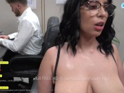 CAMSODA - OFFICE MILF WITH BIG NIPPLES SQUIRTS FROM HER LACTATING TITS AND ALMOST GETS BUSTED