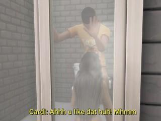 Cardi B Takes A Bath