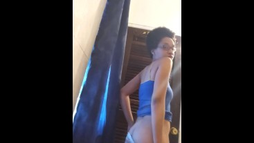 Sexy ebony showing you her butt 2