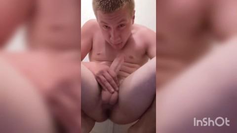 Sucking own cock