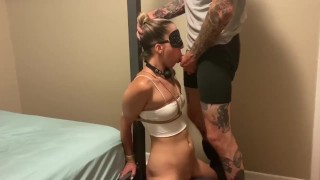 pole tied and throat fucked