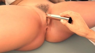 Cuckold H&Slutty Wife: Doctor Is Sticking A Dildo In A Married Wife's Pussy-Ep 17