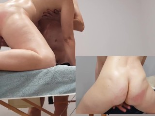 Ass and pussy massage and hard fingering