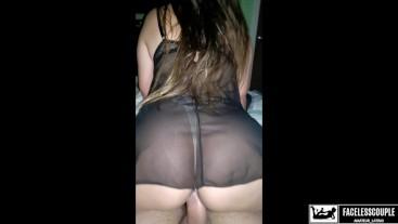 Estudiante Caliente en Lencería Sexy Monta Mi Polla y Hace Correrme Dentro!
