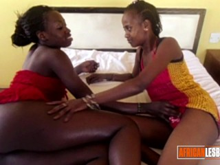 Hot Black Lesbian Scissoring Action