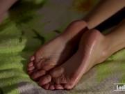 Sensual feetworship of teen couple