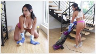 BANGBROS – Hot Latina Maid Selena Santa Polishes Bruno Dickemz's Knob