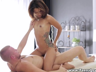 Teeny Lovers – Mary Dee – Tattooed coed massage and fuck