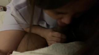 พยาบาลแอบมาเย็ดกับชู้ เย็ดไป คุยไป ได้อารมณ์มาก เสียงไทยชัดเจน Thai Nurse and friend with benefit