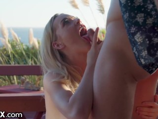 EroticaX - Hot Wife Fucks Other Man Outside At Swinger's Resort bbc sex clips
