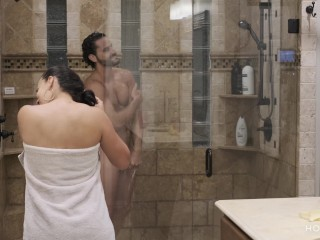 Preview 1 of Shower with my Fit Husband Ends up in Hot and Romantic Sex