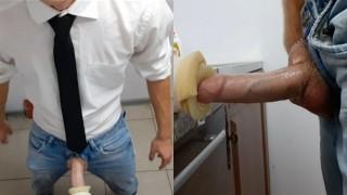 XXX Porno - Парень С Большим Хуем Запер Подсобку И Накачал Спермой Искусственный Анус