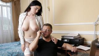 Big Tit Brunette Alexa Black Seduces BF For Sensual Fuck and Facial – S11:E12