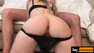 Look at this posh MILF ass while she gives me a head