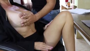 Sexy horny Boss fucking her Employee