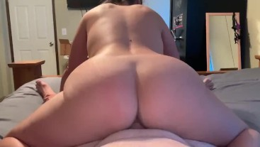 She likes to ride reverse cowgirl