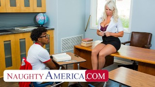 Naughty America – London River is willing to help her student, but she wants cock in return
